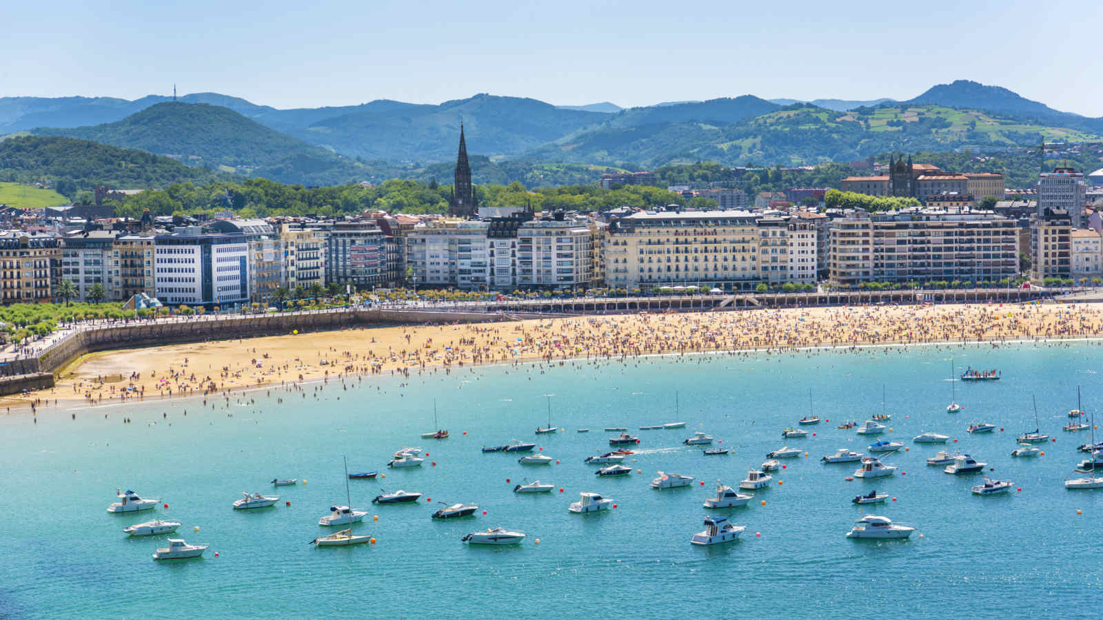 The Pearl Of Cantabrian Sea San Sebastian Donostia In Spain